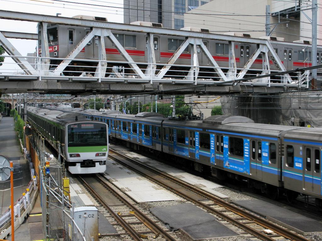 JR恵比寿駅~渋谷駅間